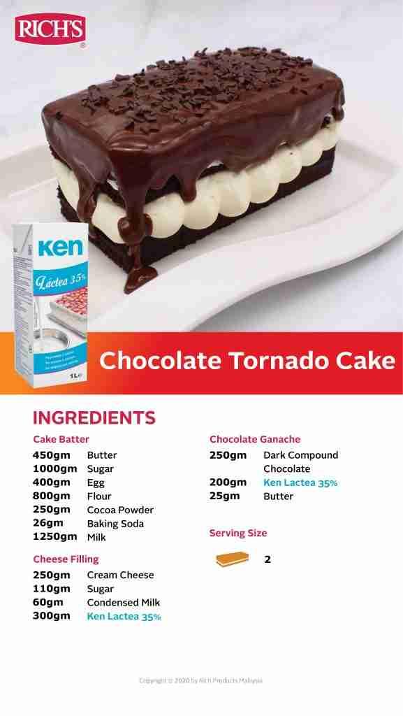Chocolate Tornado Cake Recipe