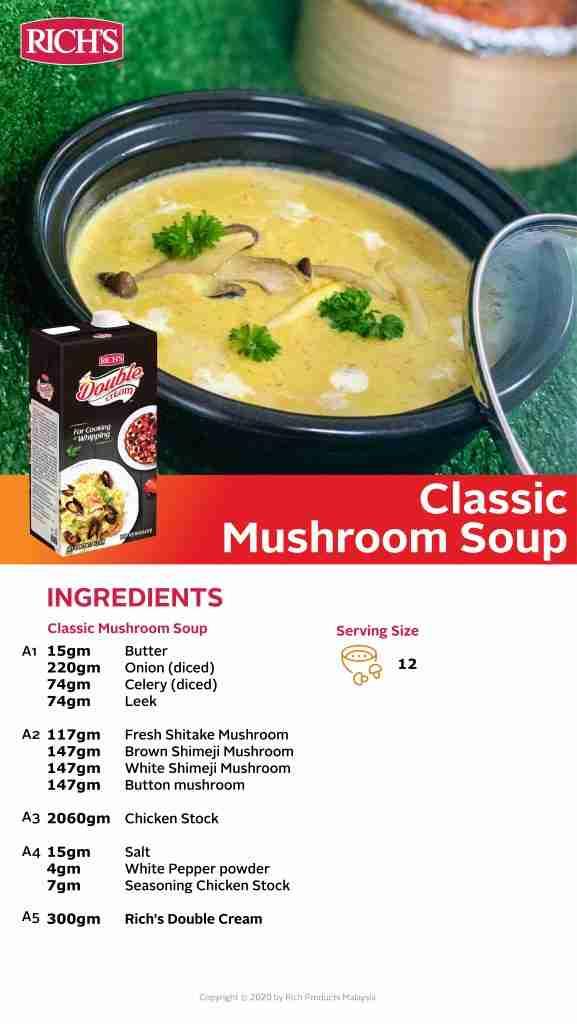 Classic Mushroom Soup Recipe
