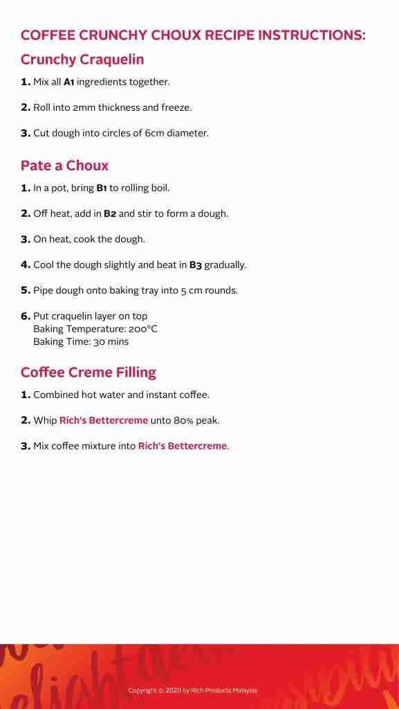 Coffee Crunchy Choux Recipe