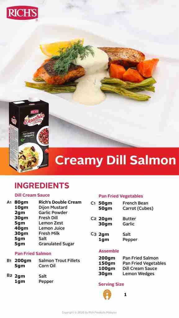 Creamy Dill Salmon Recipe