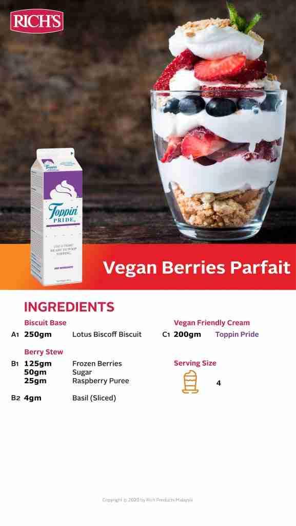 Vegan Berries Parfait Recipe