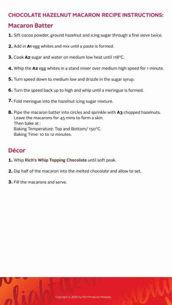 Chocolate Hazelnut Macaron Recipe