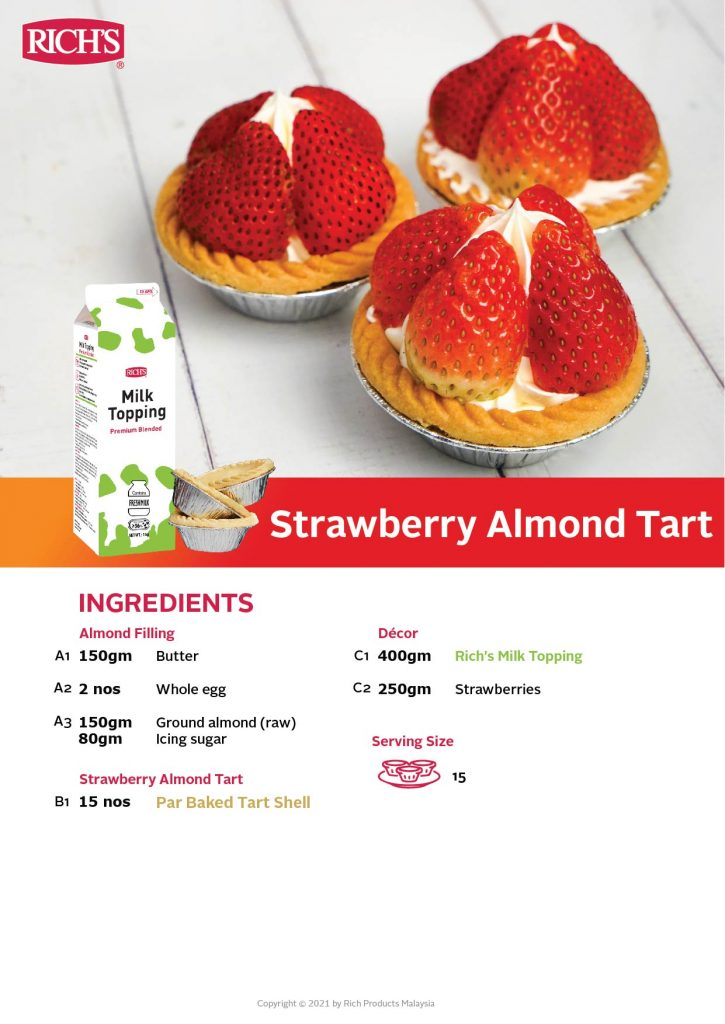 Strawberry Almond Tart recipe