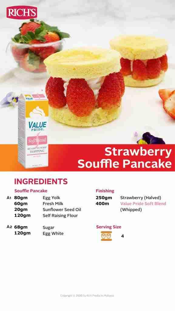 Strawberry Souffle Pancake Recipe