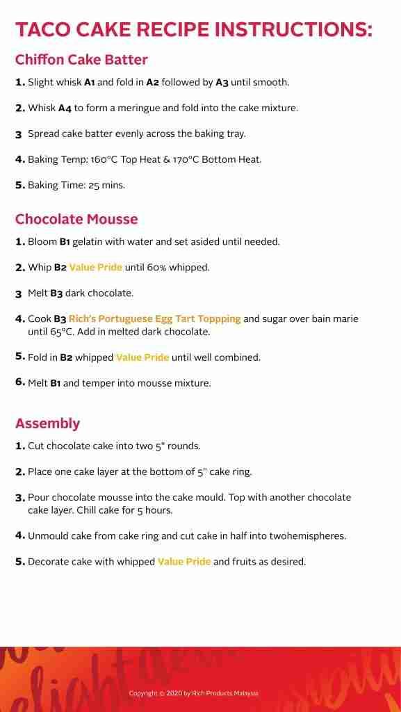 Taco Cake Recipe